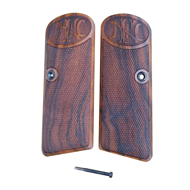 Browning Fn 1922 Wood Grips (Checkered With Logo)