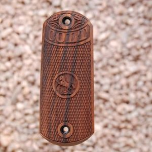 Colt 1902 Sporting Pistol Wood Grips Checkered