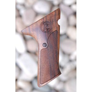 Colt Woodsman Match Target 2nd Series Wood Grips With Thumbrest