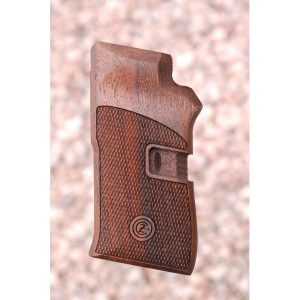 Cz 52 Wood Grips (Checkered With Logo)
