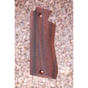 Star Bm Wood Grips (Checkered)