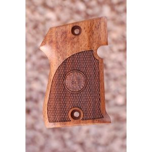 Star Hk Wood Grips (Checkered With Logo)