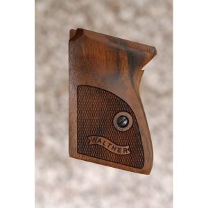 Walther Ppk Wood Grips (Checkered With Logo)